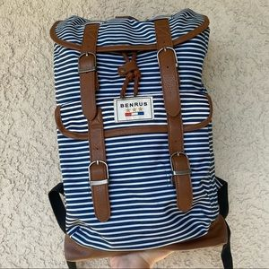 Benrus Striped Backpack